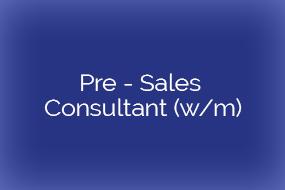 Pre – Sales Consultant (w/m) – München