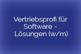 Vertriebsprofi für Software – Lösungen (w/m) – München