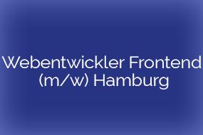 Webentwickler Frontend (m/w) Hamburg
